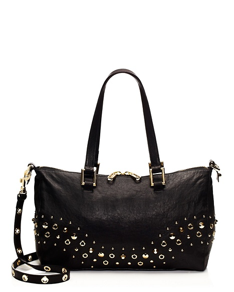 JUICY COUTURE SATCHEL BEDFORD LEATHER Black