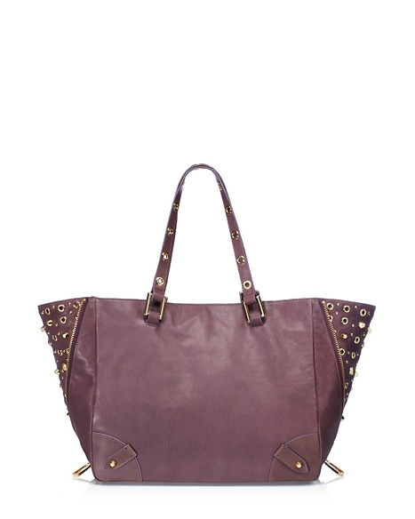 JUICY COUTURE TOTE BEDFORD LEATHER Dusty Stone