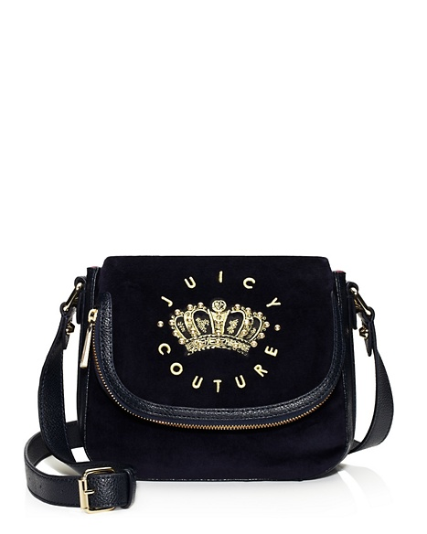 JUICY COUTURE SATCHEL HANGING STONE VELOUR MINI Regal