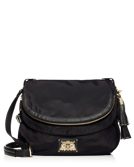 JUICY COUTURE BAG MALIBU NYLON SADDLE Black