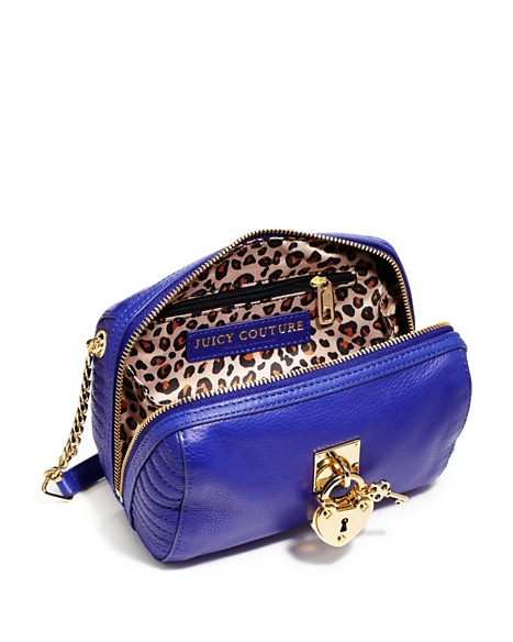 JUICY COUTURE ROBERTSON LEATHER MINI STEFFY Avery Blue