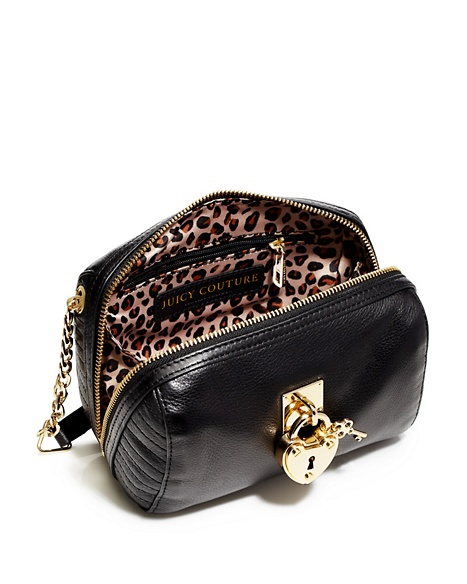 JUICY COUTURE ROBERTSON LEATHER MINI STEFFY Black