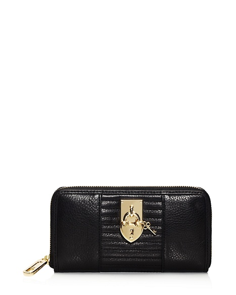JUICY COUTURE WALLET ROBERTSON LEATHER CONTINENTAL Black