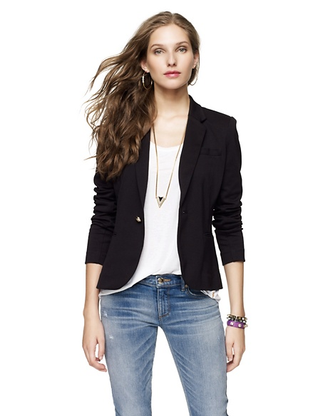 JUICY COUTURE BLAZER SOLID PONTE Pitch Black