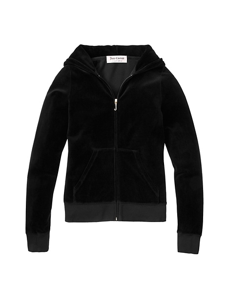 JUICY COUTURE JACKET ORIGINAL IN VELOUR Black