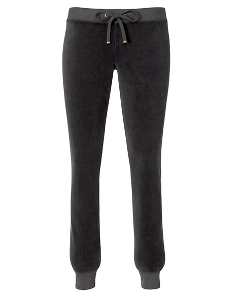 JUICY COUTURE PANT VELOUR MODERN SLIM Top Hat