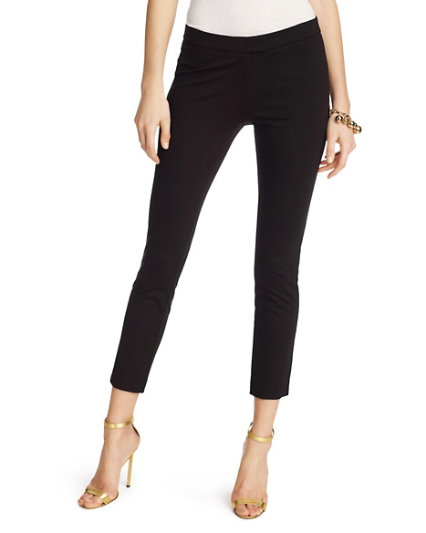 JUICY COUTURE PANT SOLID FLUID PONTE Pitch Print Black