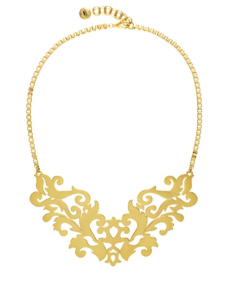JUICY COUTURE NECKLACE GOLD OPENWORK DRAMA Gold