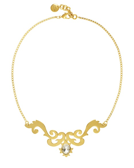 JUICY COUTURE NECKLACE GOLD OPENWORK Gold