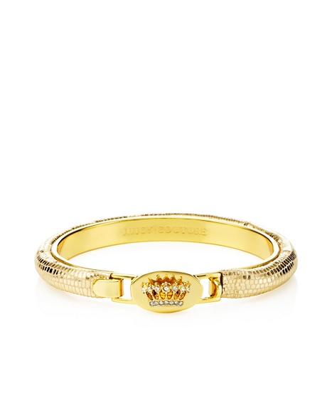 JUICY COUTURE BANGLE SIGNATURE CROWN LEATHER Gold