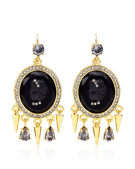 JUICY COUTURE EARRING CAMEO DROP Gold
