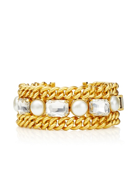 JUICY COUTURE BRACELET RHINESTONE&PEARL Gold