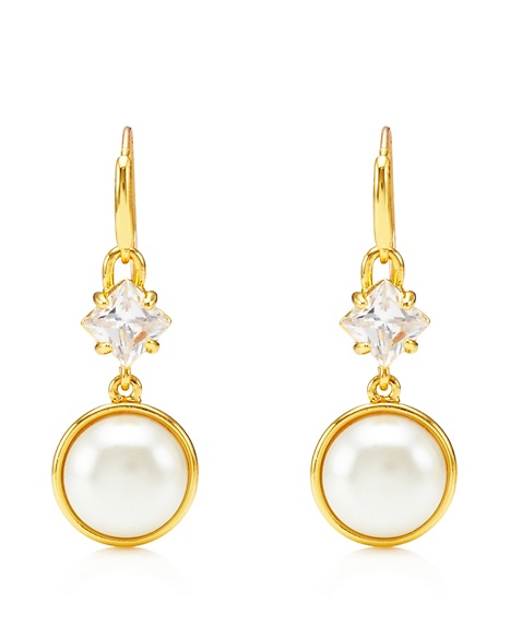 JUICY COUTURE EARRING VINTAGE DROP White