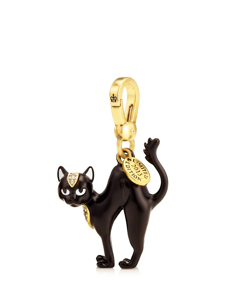 JUICY COUTURE LIMITED EDITION CAT CHARM BLACK Gold