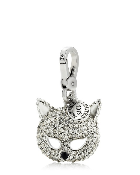 JUICY COUTURE MASK LIMITED EDITION PAVE CAT CHARM Silver