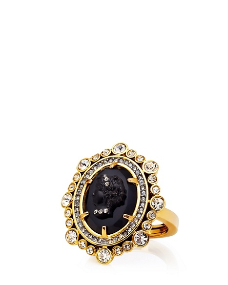 JUICY COUTURE RING CAMEO COCKTAIL ADJUSTABLE Gold
