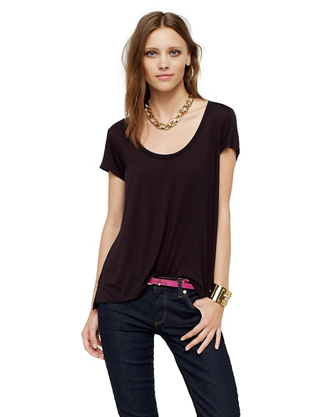 JUICY COUTURE CONTRAST BACK TEE Pitch Black