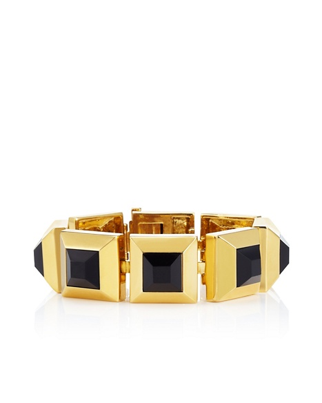 JUICY COUTURE BRACELET FACETED PYRAMID Black Gold