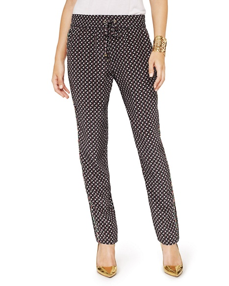 JUICY COUTURE PANT SILK GARDEN GEO Pitch Black