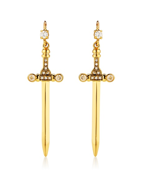 JUICY COUTURE EARRING DAGGER DROP Gold