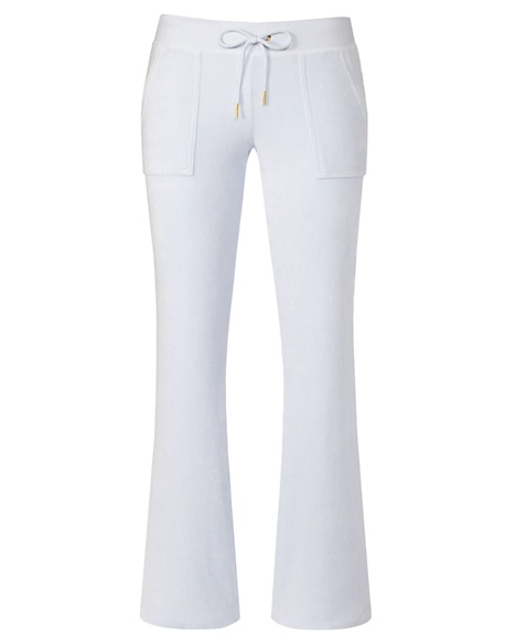 JUICY COUTURE PANT BOOTCUT IN BRIDAL VELOUR Cornflower Blue