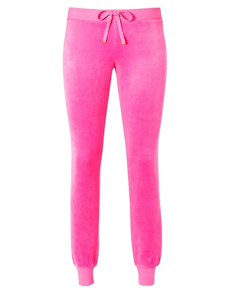 JUICY COUTURE PANT VELOUR MODERN SLIM Fragrant Rose