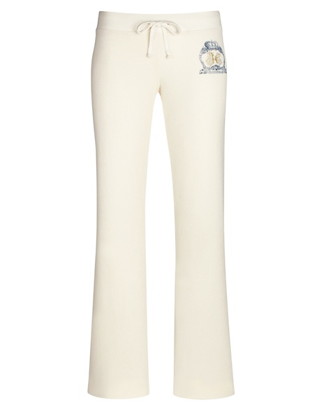 JUICY COUTURE PANT ORIGINAL IN JUICY CREST VELOUR Angel