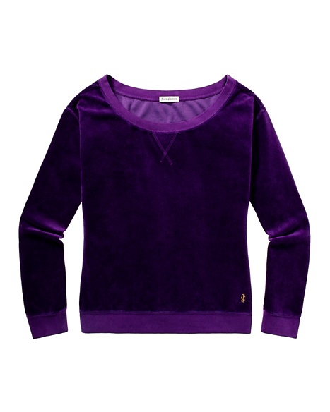 JUICY COUTURE RELAXED IN VELOUR Jeweled Plum