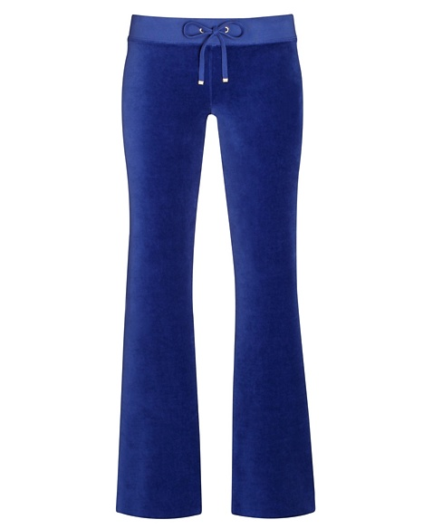 JUICY COUTURE PANT ORIGINAL IN VELOUR Cobalt Dark