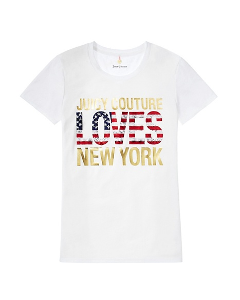 JUICY COUTURE JC LOVES NYC TEE White