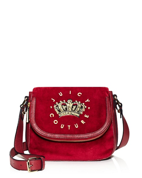 JUICY COUTURE SATCHEL HANGING STONE VELOUR MINI Well Coiffed