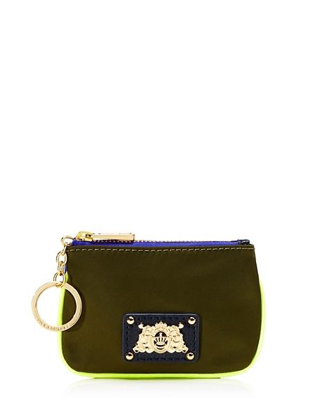 JUICY COUTURE KEY POUCH PENNY NYLON DROP IN Dill