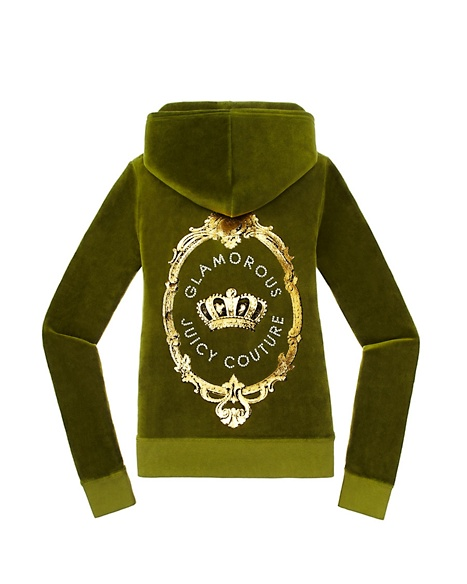 JUICY COUTURE JACKET ORIGINAL IN CAMEO VELOUR Dill