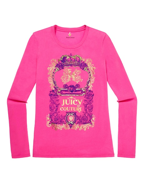 JUICY COUTURE JUICY CREST LOGO TEE Opal Pink