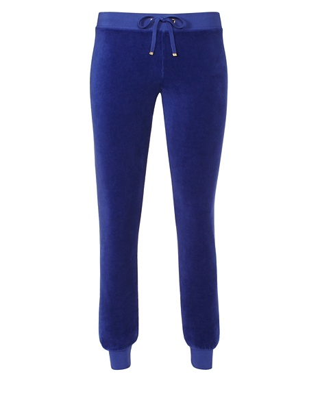 JUICY COUTURE PANT VELOUR MODERN SLIM Cobalt Dark