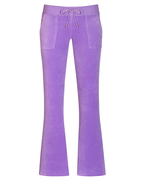 JUICY COUTURE PANT BOOTCUT IN JBLING VELOUR Deep Orchid