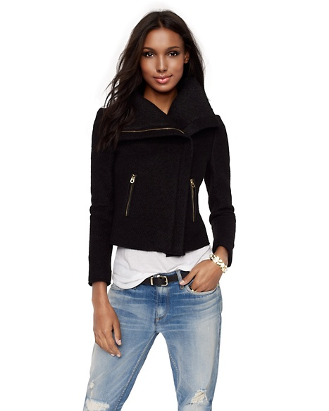 JUICY COUTURE SWEATER JACKET CHUNKY Pitch Black