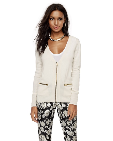 JUICY COUTURE CARDIGAN WOOL-CASHMERE ZIP Angel