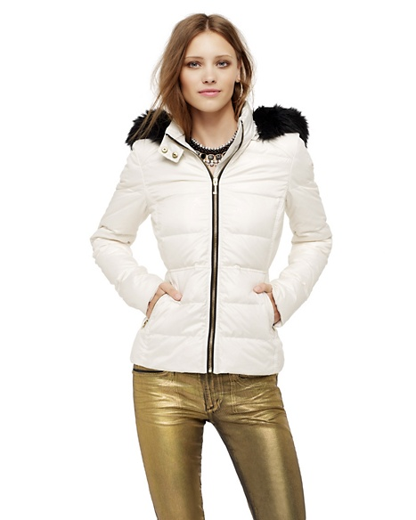 JUICY COUTURE JACKET HOODED PUFFER Angel