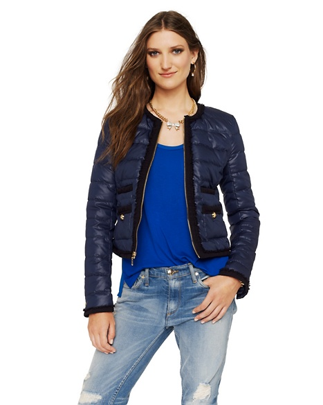 JUICY COUTURE JACKET COLLARLESS CROPPED PUFFER Regal