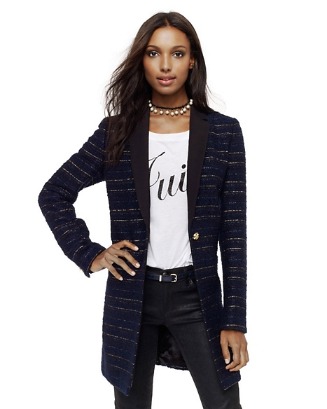 JUICY COUTURE COAT TEXTURED STRIPE Regal
