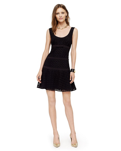 JUICY COUTURE DRESS GEO LACE TANK Pitch Black