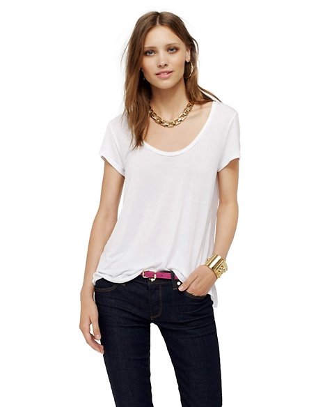 JUICY COUTURE CONTRAST BACK TEE White