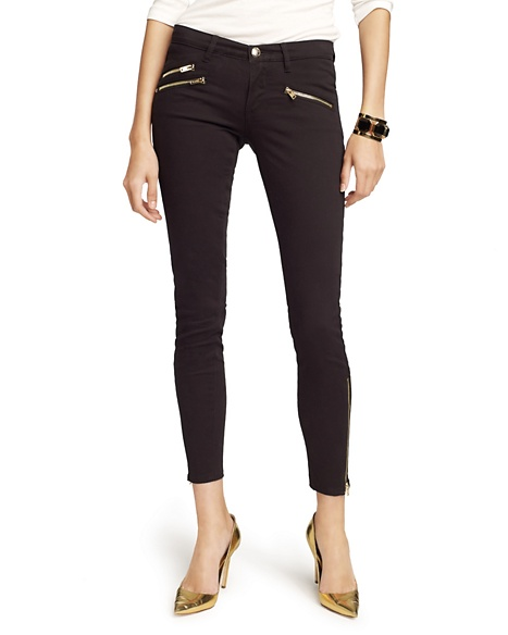 JUICY COUTURE JEAN ZIPPERED SKINNY Pitch Black