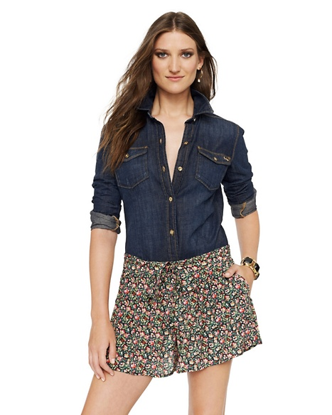 JUICY COUTURE SKORT WOMEN SILK GARDEN GEO Fragrant Rose