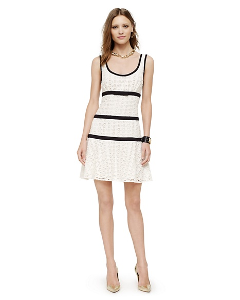 JUICY COUTURE DRESS WOMEN GEO LACE TANK Angel