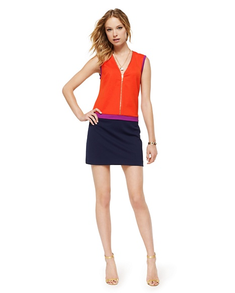 JUICY COUTURE DRESS WOMEN PONTE COLORBLOCKED Seychelles