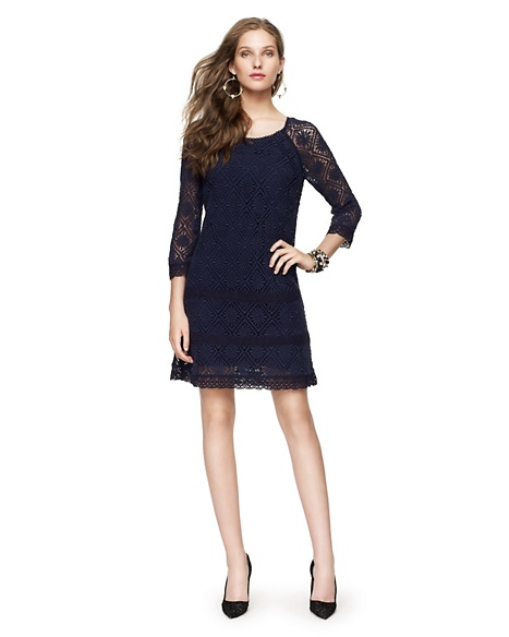 JUICY COUTURE DRESS WOMEN FLORAL GUIPURE LACE SHEATH Regal