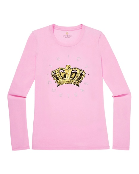 JUICY COUTURE WOMEN CAMEO LOGO TEE Bubble Pink