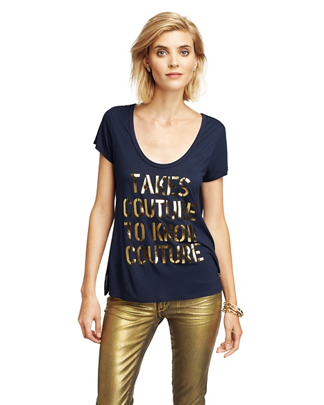 JUICY COUTURE COUTURE WOMEN TAKES TEE Regal